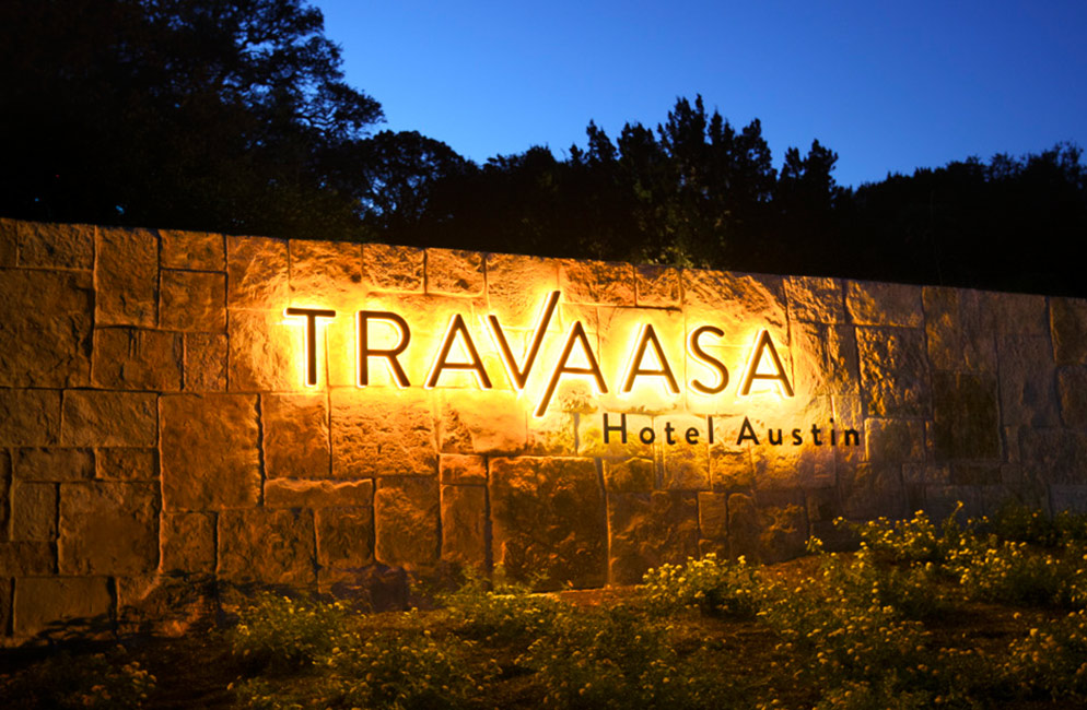 Travaasa Austin Welcome Sign