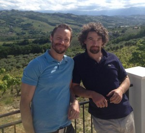 Edward and Enrico at the Cerulli Estate