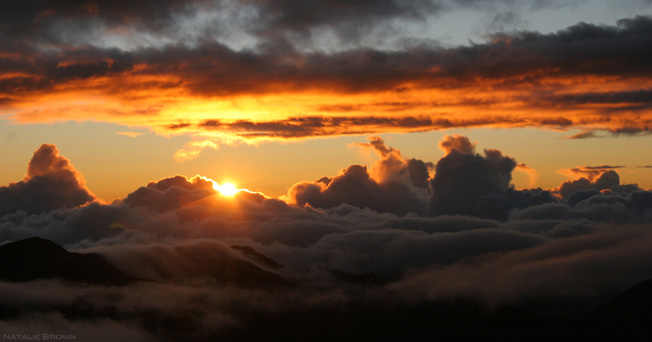 sunrise at Haleakala Crater